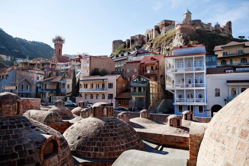 Bäderviertel Abanotubani Meidani Tbilisi/sulphur bath old town tbilisi