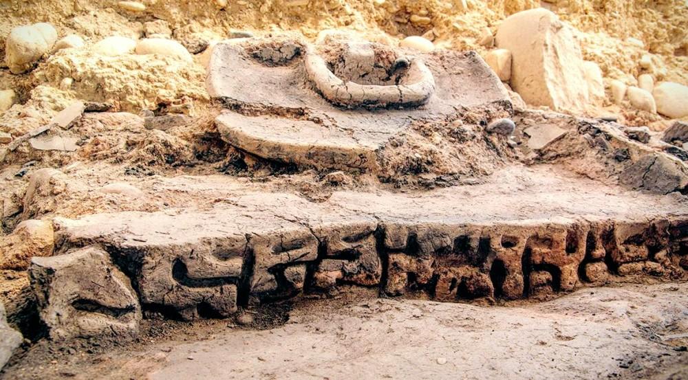 Ausgrabungen 2016 bei tiflis, georgische schrift