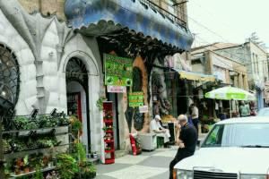 Ladenstrasse in der Altstadt von Kutaissi
